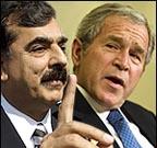 US President George Bush and Pakistan Prime Minister Yousuf Raza Gilani