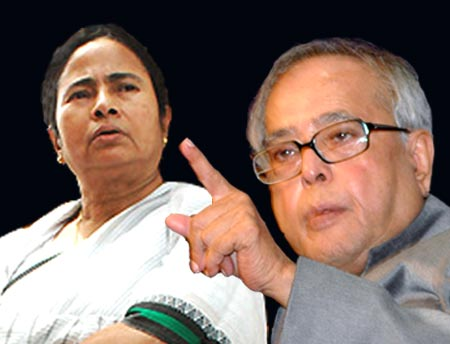 Congress not worried over a spat between Pranab and Mamata