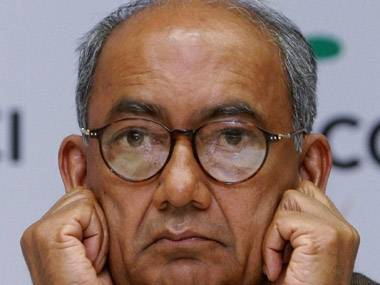 Digvijay disappointed with charges slapped on BJP chief Gadkari