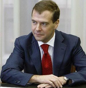 Bern gets two Russian bears, Mischa and Mascha, as Medvedev visits