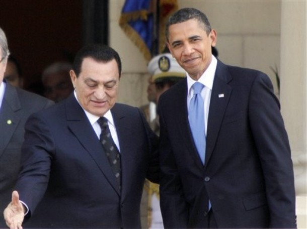 Hosny Mubarak, Barack Obama