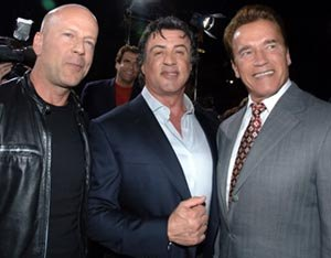 Arnie, Sly and Willis to star in The Expendables