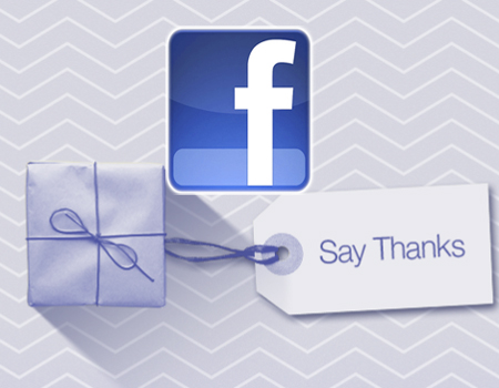 Facebook Say Thanks