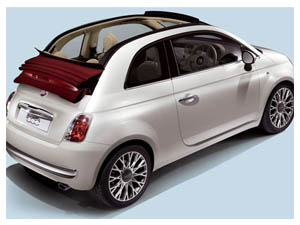 Fiat 500C convertible comes with canvas roof