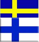 Finland and Sweden flag
