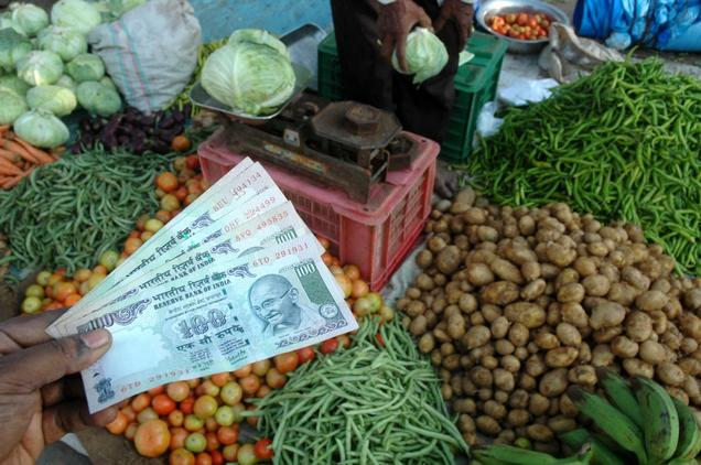 India's food inflation falls below zero to - 3.36 percent