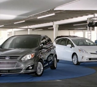 Ford's new C-Max hybrid ads go head-on at Toyota Prius v hybrid