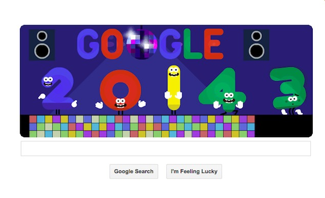 Google celebrates New Year with dancing numbers