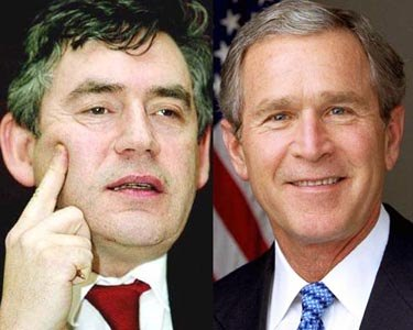 US President George W Bush and British Prime Minister Gordon Brown