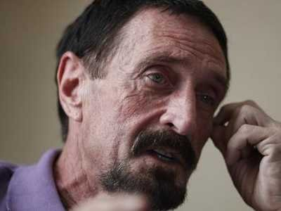 John McAfee returned to Guatemala immigration detention cell after hospitalization
