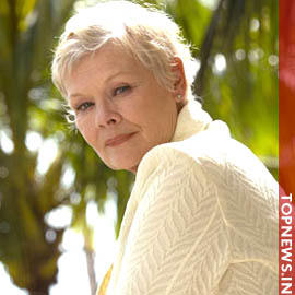 Dame Judi Dench sprains ankle after fall