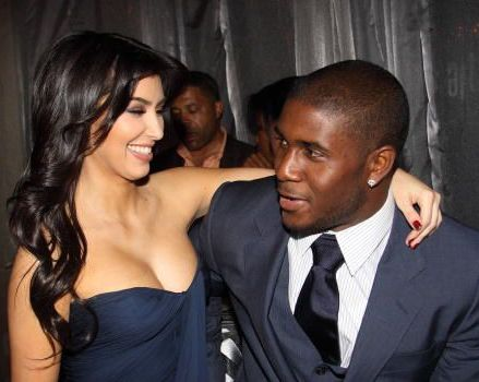Kim Kardashian and Reggie Bush Sporting String Bikinis