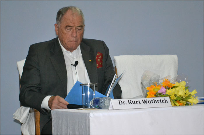 Prof Wuthrich inaugurates Biocon Research Centre