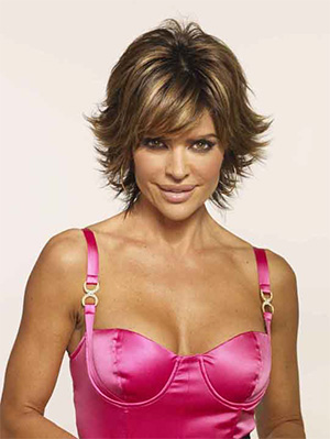 Lisa Rinna short hair with bangs for women