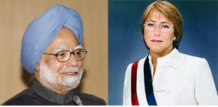 Chilean President to meet Manmohan Singh today