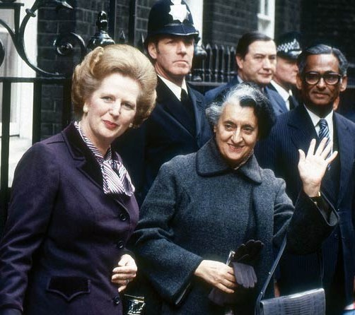 margaret thatcher and indira gandhi Former british prime minister margaret thatcher had received death threats to her life in the wake of indira gandhi's assassination in october 1984, according to newly-declassified uk.