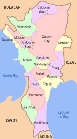 Map Manila