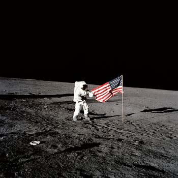 Moon landing fascinates even