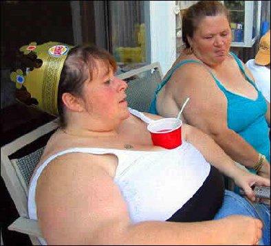 fat redneck woman on birthday cake barbie toilet