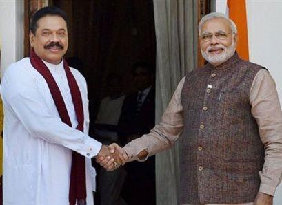 Narendra Modi Mahinda Rajapaksa
