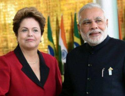 Narendra Modi and Dilma Rousseff