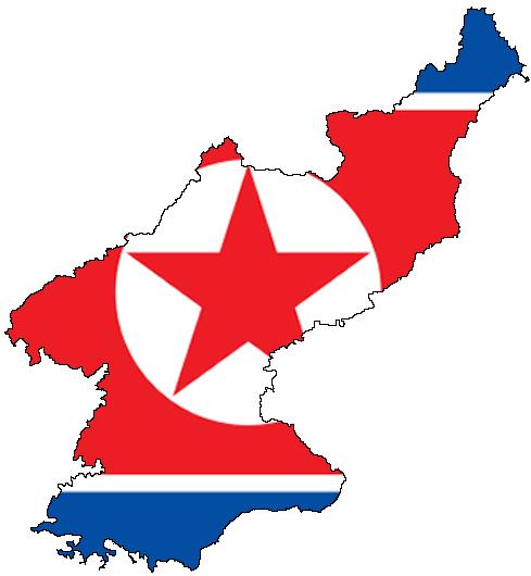 north korean flag. North Korea should be punished