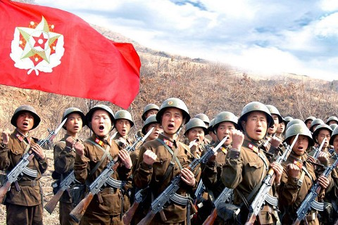 the north korean army. uprisings in North Korea.