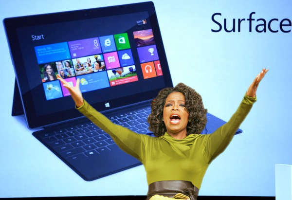 Oprah Winfrey adds Microsoft 'Surface' tablet to her 'Favorite Things' list