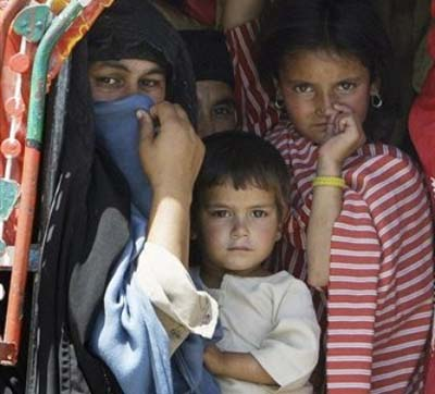 Refugees from the Swat Valley in Northwestern Pakistan
