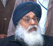 Chief Minister of Punjab Parkash Singh Badal