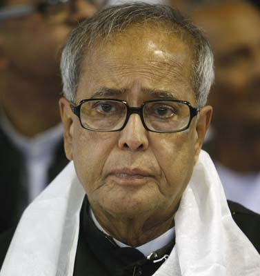 Pranab Mukherjee files nomination papers from Jangipur