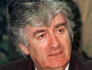 Karadzic to appear at war crimes tribunal Eds: epa photos available