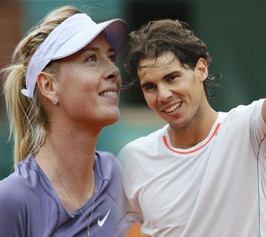 Rafael Nadal and Maria Sharapova