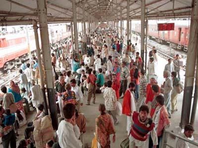 ... after a stampede at the new delhi railway station left two people dead