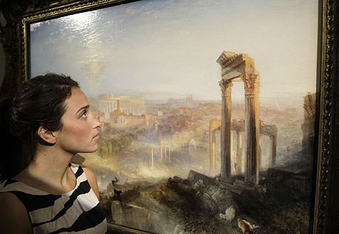 Rome view painting has been sold for a record price of 29.7 million euros
