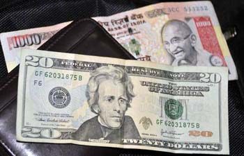 Indian rupee trading at 55.05 against US dollar