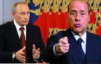Russian President Vladimir Putin and Italian prime minister Silvio Berluscon