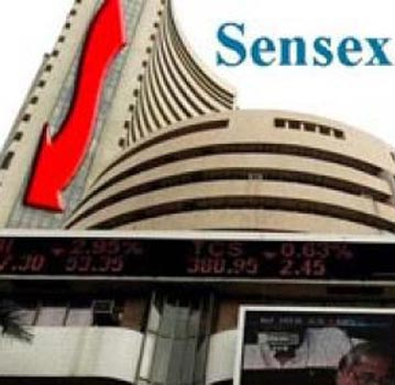 Sensex falls from record high on profit-booking, down 25 points