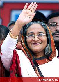Sheikh Hasina returns to Dhaka to contest general polls