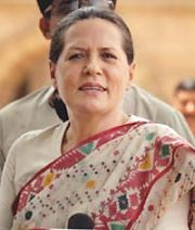 United Progressive Alliance (UPA) chairperson Sonia Gandhi