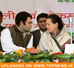 Sonia, Rahul leave for Beijing