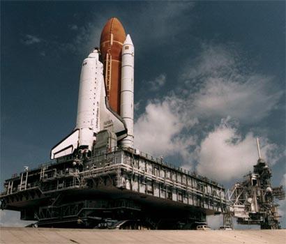 space shuttle launch. Space shuttle Atlantis ready
