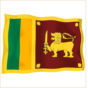 Sri Lankan Flag. Sri Lanka on a #39;cleaning