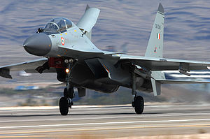 Four Sukhoi fighter jets stationed at Tezpur
