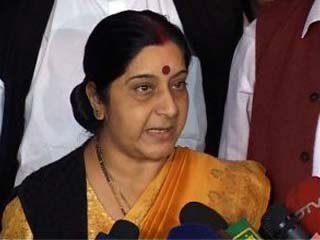 Swaraj alludes to Raje's possible expulsion from the BJP