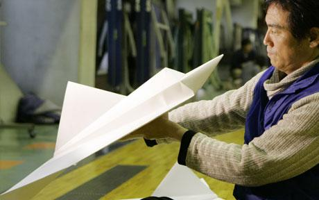 Japanese man sets world record for longest paper plane flight