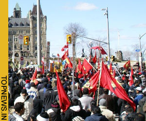 Lankan Tamil protest in Canada enters fourth day