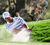 Tiger Woods in the rough at the Australian Open