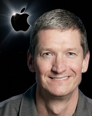 Tim Cook's stock award is subject to share performance
