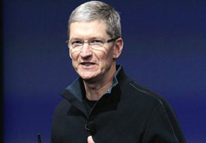 Apple boss Tim Cook talks of 'great stuff' pipeline while lamenting share price fall